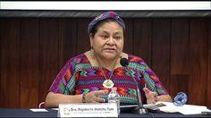 Rigoberta Menchú dictó una conferencia sobre los Acuerdos de Paz en Guatemala