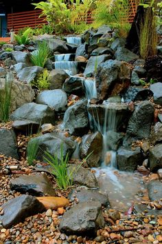 255 best ponds waterfalls images on pinterest backyard for Garden pond waterfalls for sale