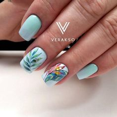 32 Ideas for gel manicure designs trends Manicure Colors, Nail Colors, Gel Manicure, Colorful Nail Designs, Nail Art Designs, Natural Gel Nails, Pretty Nail Art, Glitter Nail Art, Flower Nails