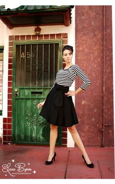 Audrey Skirt in Black Pinup Couture