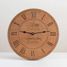 Create Your Own Engraved Wood Clock: Custom Engraved Wood Clock, Personalized Wood Wall Clock, Design Your Own Clock Top Wedding Trends, Wedding Ideas, Wood Clocks, Father Of The Bride, Wedding Gift Ideas For Bride And Groom, Wedding Gifts For Parents, Bride Gifts, Custom Wood, Custom Engraving