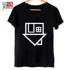 Black Top New 2016 Summer Women Fashion T Shirt The Neighbourhood Letter print T-Shirt Short Sleeve Tshirts Street Clothing Tops
