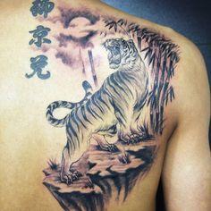 Gorgeous tiger tattoo by @jbtattoo_