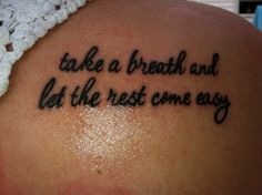 I actually saw a girl with these lyrics tattooed on her back at an All Time Low concert and it was very beautiful and well done. It was small but big enough to read. Loved it so much