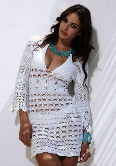 Inspirações de Croche com Any Lucy: Saída de Praia      ♪ ♪ ... #inspiration #crochet  #knit #diy GB  http://www.pinterest.com/gigibrazil/boards/