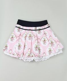 Another great find on #zulily! Pink Floral Pleated Skirt - Infant, Toddler & Girls #zulilyfinds