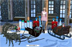 Sims 4 CC's - The Best: Decoratives Christmas Evening Vol 2 by JenniSims