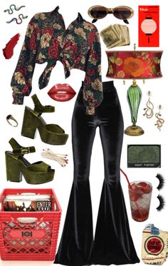 Softcorehoney on ShopLook 70s Inspired Outfits, 70s Inspired Fashion, 70s Fashion, Look Fashion, Fashion Outfits, 70s Vintage Fashion, Disco Fashion, Party Fashion, Fashion 2020
