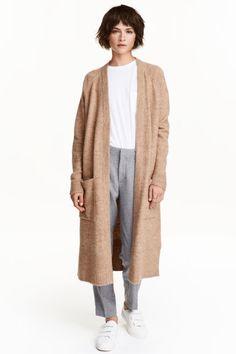 Cardigan lung tricotat   H&M