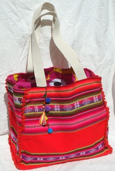 Mexican Blanket Aguayo Reversible Bag $39                                                                                                                                                                                 More