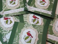 Carte de Noël, carte des fêtes, carte joyeux Noël, carte grelots,  «Cardinal de Noël» Stampin' Up! de la boutique Lamainalacarte sur Etsy