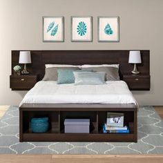 See additional information on the Prepac Series 9 Designer Floating Wall Mounted Queen Headboard with 2 Nightstands (Espresso) EHHQ-0520-2K below.