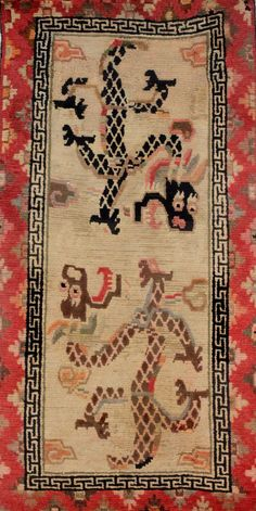 Vintage Tibetan Rug by The Carpet Cellar