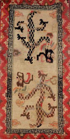 Vintage Tibetan Rug by The Carpet Cellar