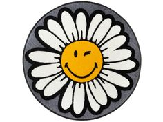 Teppich Smiley Daisy wash+dry by Kleen-Tex rund Höhe 7 mm gedrucktBaur. Kiss Me Deadly, Cross Stitch Patterns, Daisy, Keep Smiling, Painting, Design, Nitrile Rubber, Smiley Faces, Studio