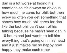 Finally, a post about Dan and Phil's friendship that doesn't make me want to rip my eyes out