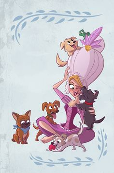 I got asked to do a cover for the Tangled the Series comics a few months back! Got to draw a bunch of the Tangled crew's dogs! I did none of them justice, but it was fun! Disney Rapunzel, Tangled Rapunzel, Disney And Dreamworks, Disney Pixar, Disney Characters, Cute Disney, Disney Girls, Cartoon Shows, Cute Cartoon