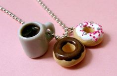 coffee and donuts necklace