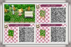 Image result for ACNL qr code grass flower petals