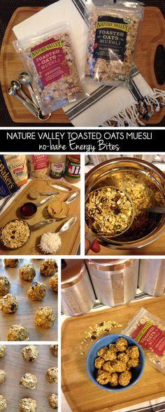 cornflake dreams.: Nature Valley Toasted Oats Muesli no-bake Energy Bites #mueslirecipes #muesli #ad
