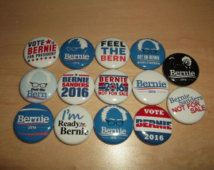 BERNIE SANDERS 2016 Campaign Election buttons badges pins democrat democratic button badge feel the bern
