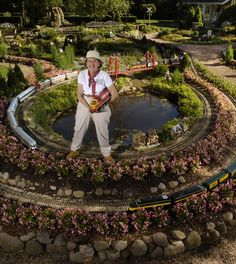 The Train Lady's Train Garden - would love to do this to part of my back yard!
