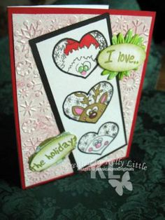 Handmade Card  Stamp by JessicaLynnOriginal.comHeart Trio by Littlekel90 - Cards and Paper Crafts at Splitcoaststampers