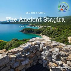 Stagira, Stagirus, or Stageira was an ancient Greek city, located in central Macedonia, and is chiefly known for being the birthplace of Aristotle. Ancient Greek City, Thessaloniki, Macedonia, Villas, Soldiers, Ww2, Beautiful Homes, Greece, Castle