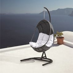 Blueys Hanging Egg Pod Chair - Outdoor Rattan Wicker 34% OFF | $375.00 - Milan Direct