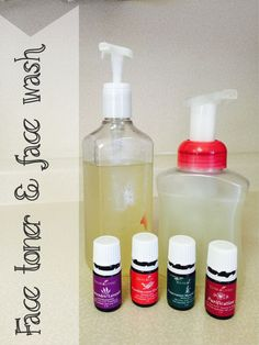 Homemade DIY foaming face wash and facial toner made from essential oils. only 4 ingredients!