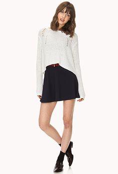 Prep School Skater Skirt w/ Belt Prep School, Stitch Fix, Skater Skirt, Latest Trends, Forever 21, Mini Skirts, Leggings, Tees, Clothes