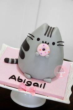 The Royal Bakery Pusheen Cake Pusheen Birthday, Birthday Cake For Cat, 10th Birthday, Fondant Cakes, Cupcake Cakes, Cake Cookies, Pusheen Cakes, Rabbit Cake, Doughnut Cake