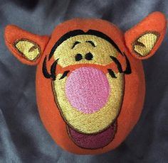 Orange Tig Snowball  3D Machine Embroidery Pattern by WhimsyDolls