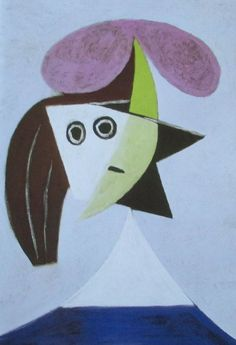 Frau mit Hut PABLO PICASSO Kunstdruck Reproduktion Surrealismus spanische Kunst