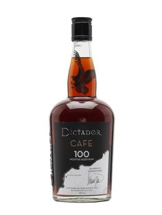 Dictador Rum Orange 100 is a tasty combination of 100-months-aged-rum and Arabica coffee beans. A superb addition to rum cocktails.