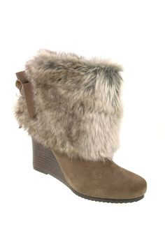 Chinese Laundry Very Nice Wedge Boot in Light Taupe - Beyond the Rack