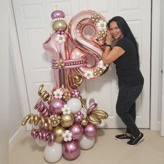 Number Balloons, Balloon Garland, Balloon Arrangements, Balloon Centerpieces, Balloon Decorations Party, Butterfly Birthday Cakes, Deco Ballon, Qualatex Balloons, Deko