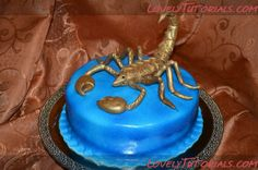 Scorpio cake topper tutorial