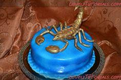 Scorpio cake topper tutorial