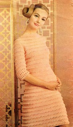 Vintage Crochet Women's/Ladies Dress pattern. by IvysPatterns