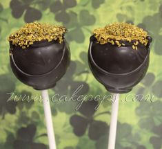 We added some fun new St Patrick's' Day Cake Pops this year!   Shamrock Sprinkled Cake Pops along with Pots of Gold and even Green beer Cak...