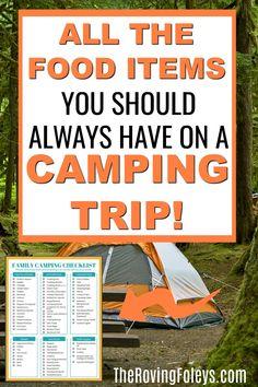 Camping Checklist Family, Camping Packing, Camping List, Group Camping, Camping And Hiking, Camping Meals, Family Camping, Outdoor Camping, Camping Food Hacks