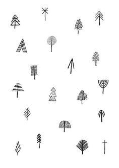 Simple stick figure tree tattoo ideas