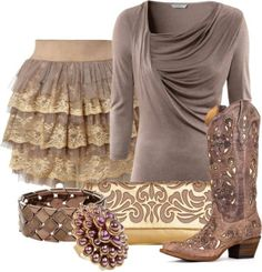"""""""Country Glam"""" by pippimommy ❤ liked on Polyvore 