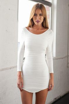 63308b5ece9 White Bodycon Mini Dress   New Fashion Collection Fashion Gossip
