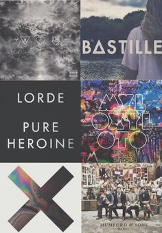 some rad bands, not my favorites but pretty cool.(lorde &  bastille arent bands ,pretty sure,)