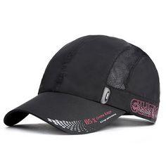 Mens Women Quick-dry Thin Breathable Snapback Flat Baseball Caps Adjustable  Outdoor Visors Hats 84ece4295ecc