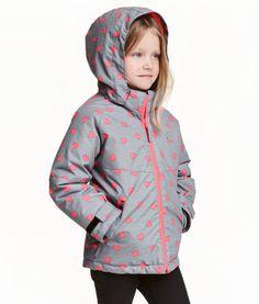 Gewatteerd winterjack   Grijs/hartjes   Kinderen   H&M NL