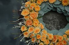 dsc_1309 Simple Flowers, Amazing Flowers, Fresh Flowers, Funeral Sprays, Sympathy Flowers, Funeral Flowers, Passion Flower, Ikebana, Welcome Wreath
