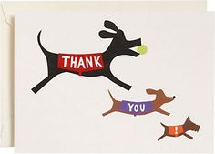 Dogs Thank You! Notes ... Perfect because I am a dog person